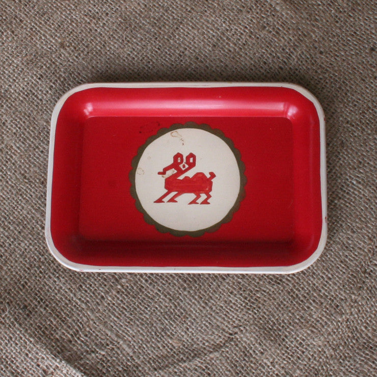 Hand Painted Metal Tray VIII