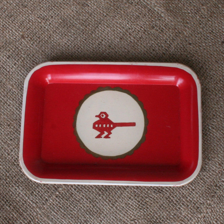 Hand Painted Metal Tray IX