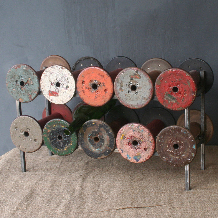 Industrial Spool Wine Rack