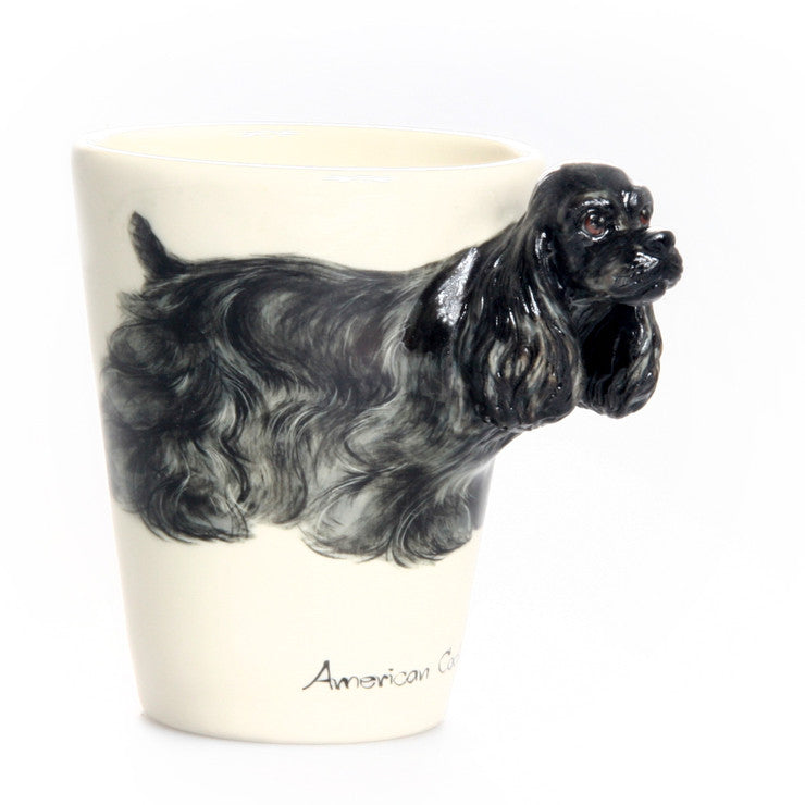 American Cocker Mug Black