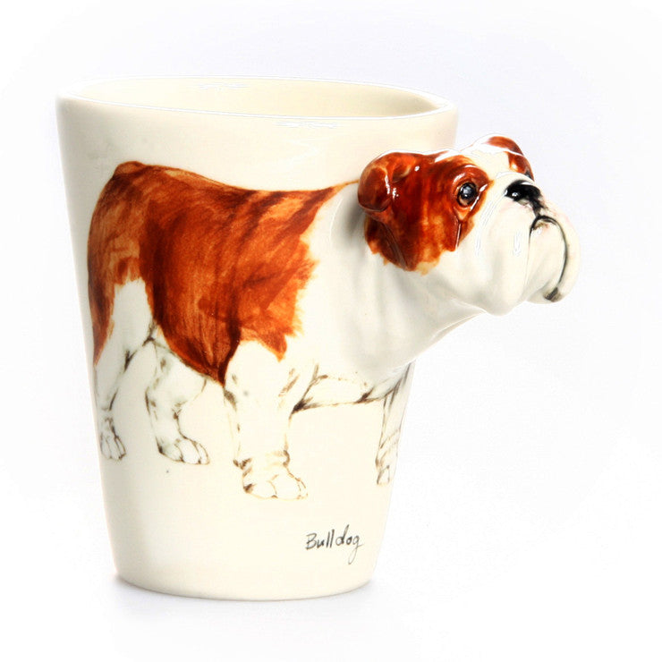 Bulldog Mug Brown