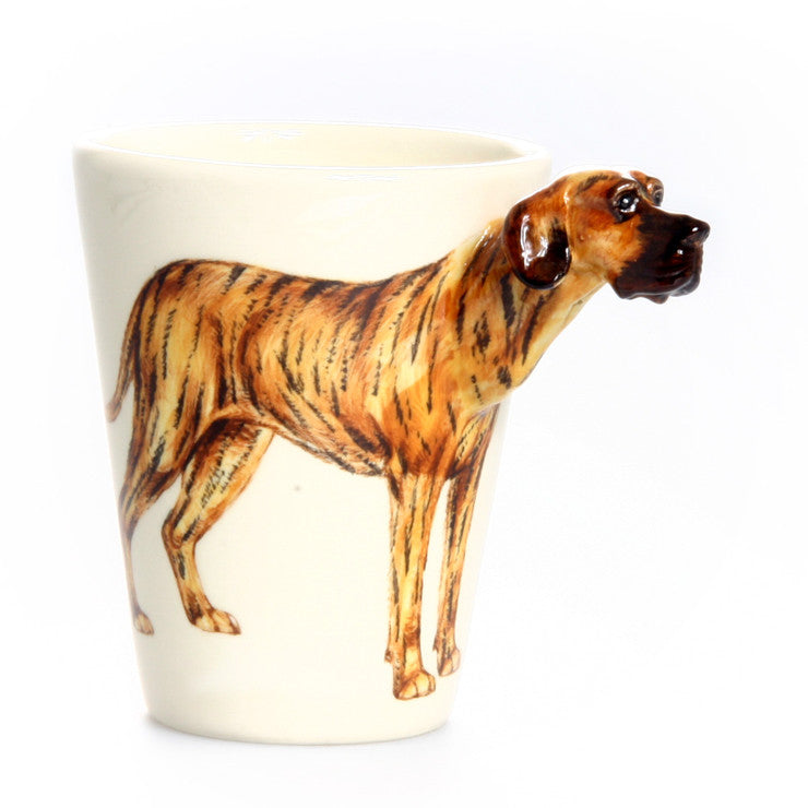 Great Dane Ears Down Mug Tiger