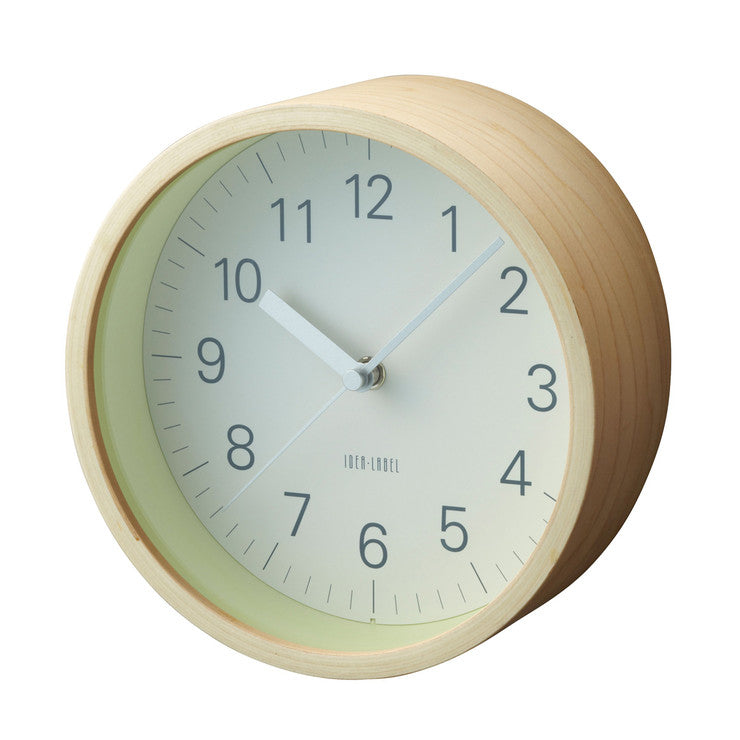 Lumino Wall Clock Natural