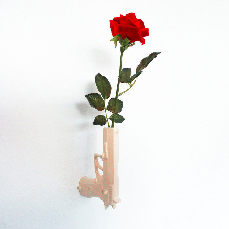 Gun Wall Mounted Vase