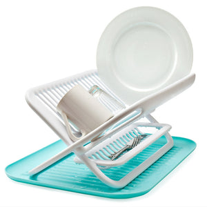 Foldable Dish Rack Blue