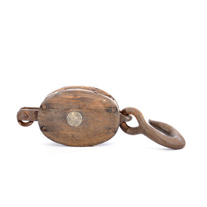 Antique Pulley & Iron Cast Hook