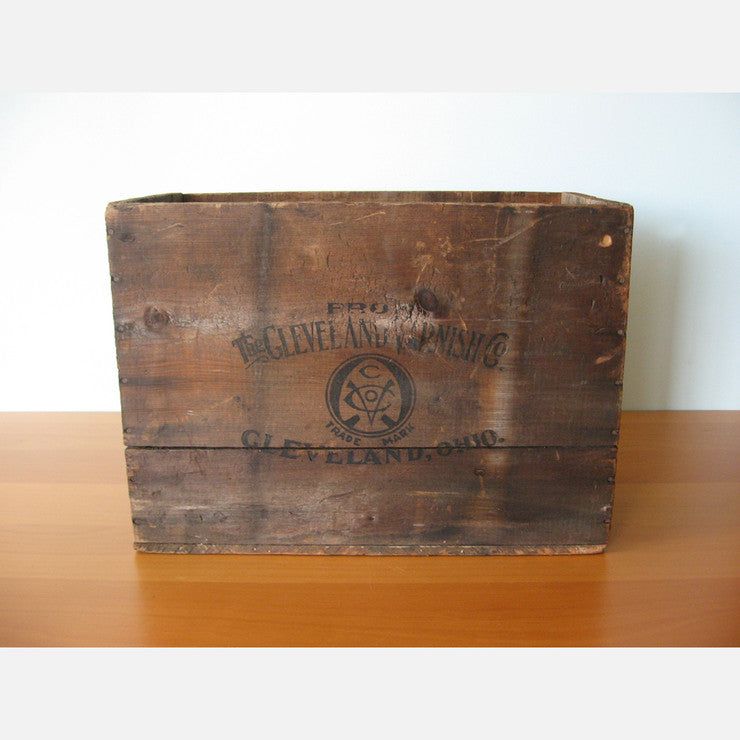 Cleveland Varnishing Co. Crate