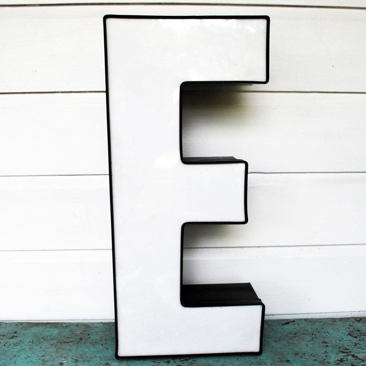 Industrial Wall Letter E