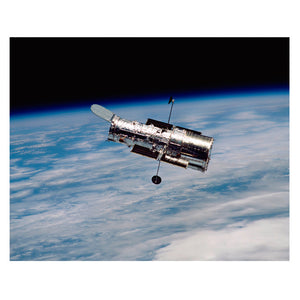 Hubble Orbiting Earth 12x9.5
