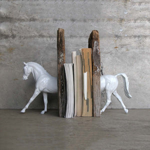 Hunter Pony Bookend White