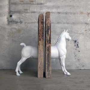 Hackney Bookend White