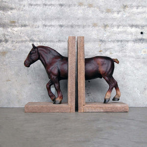 Draft Equine Bookend Brown