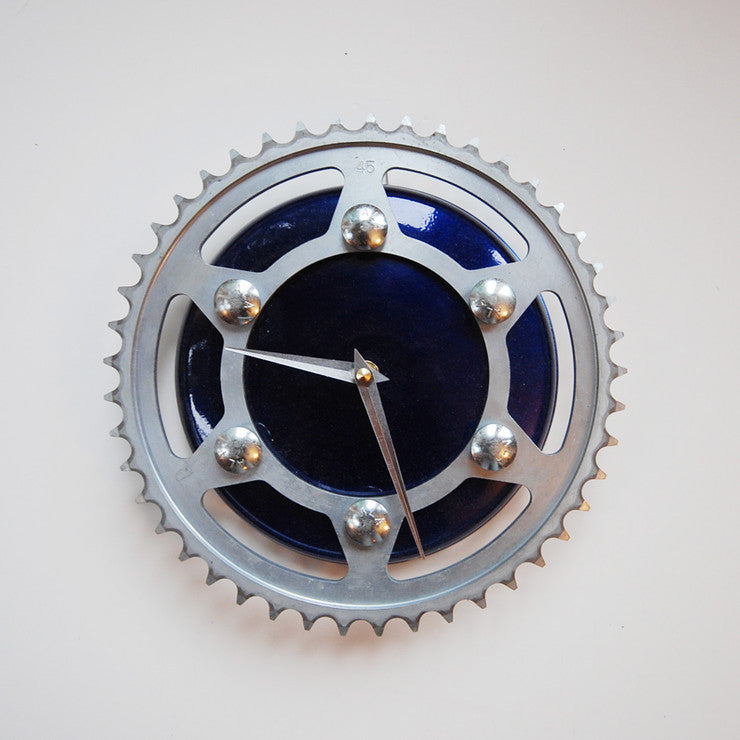 Blue Lightning Clock