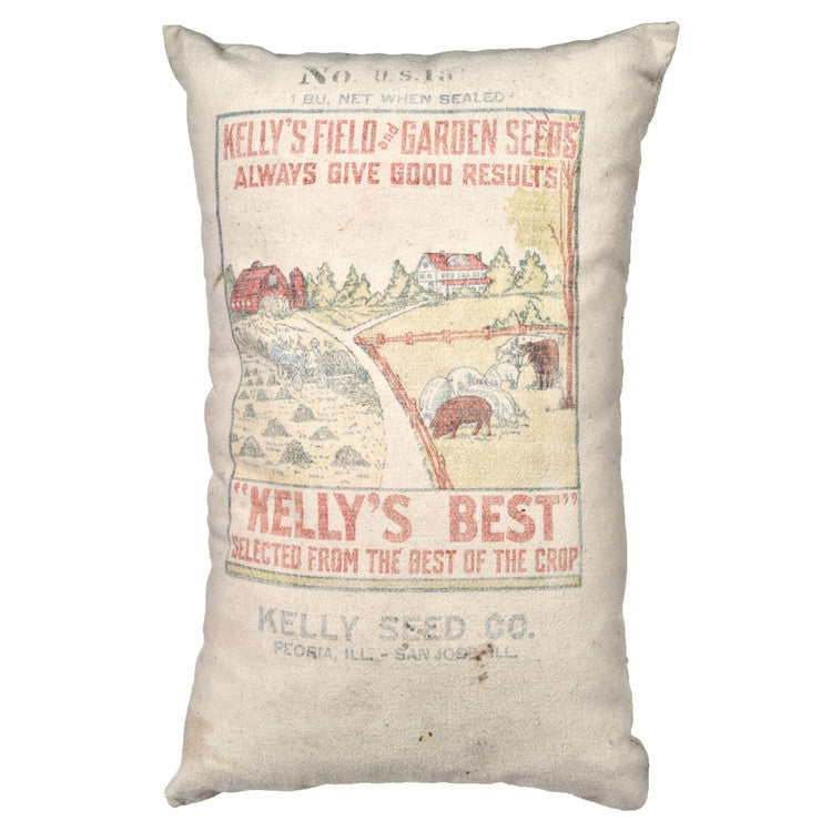Kelly's Garden Seed Sack Pillow