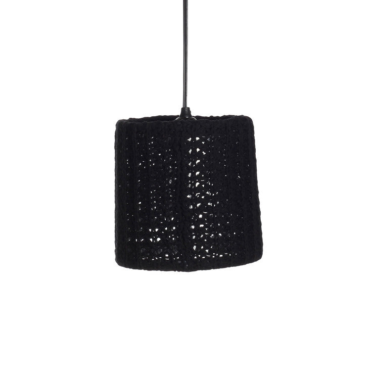 Knit Drum Pendant Black
