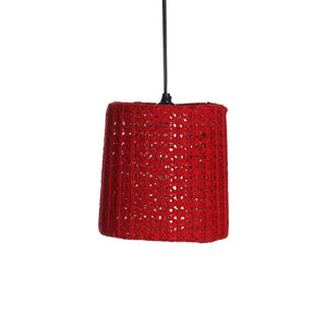 Knit Drum Pendant Red