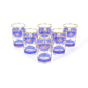 Challa Glasses Blue Set Of 6