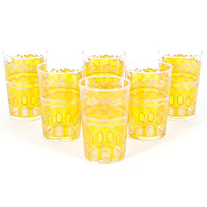 Etoile Glass Yellow Set Of 6