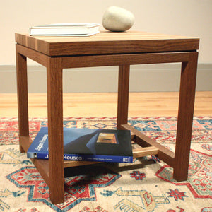 Fumed Oak Side Table
