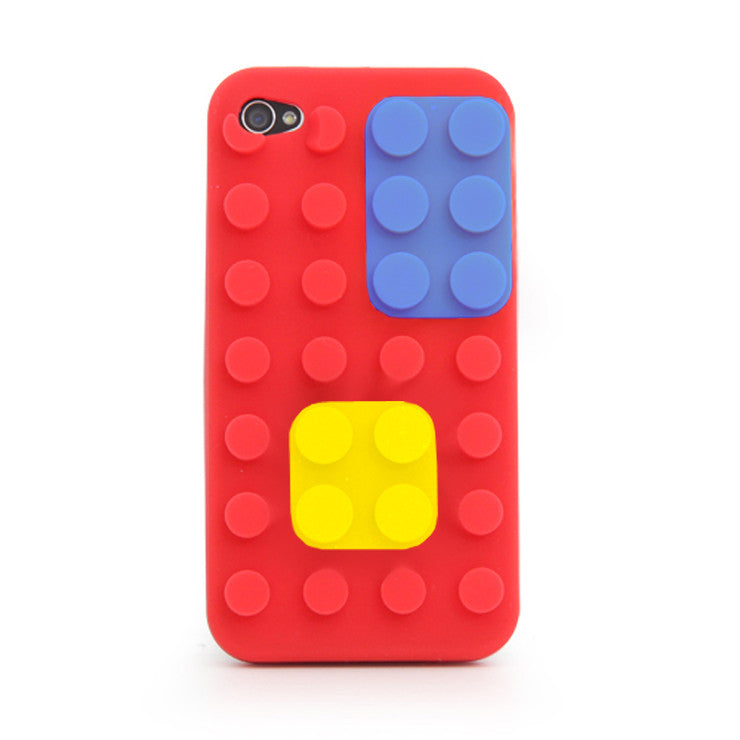 iPhone 4 Block Case Red
