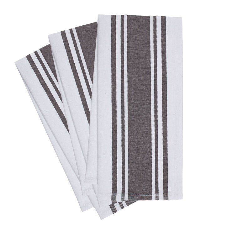 Band Kitchen Towel Pewter 3 Pack