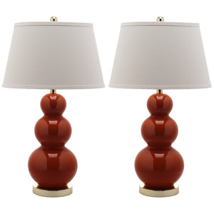 Ceramic Lamp 30\ Orange Pair""