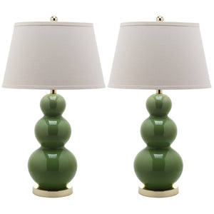 Ceramic Lamp 30\ Green Pair""