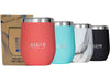 12oz Insulated Stainless Steel Wine Tumbler - Coral