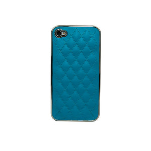 iPhone 4/4S Lux Leather Case Blu