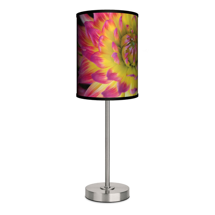 Yellow And Pink Flowers Lamp