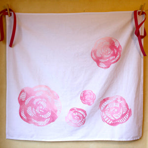 Art Deco Rose Apron Pink
