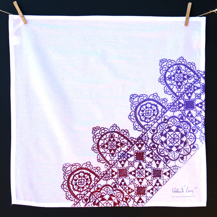 Dentelle II Towel Purple