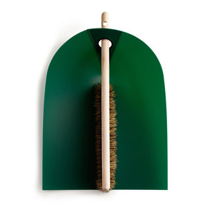 Dustpan And Broom Dark Green
