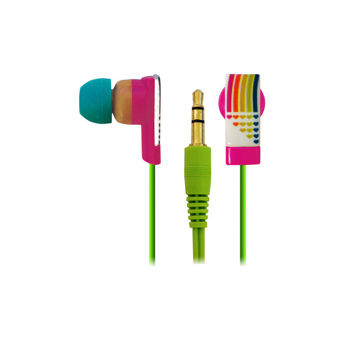 Pink Cookie Earbuds Rainbow