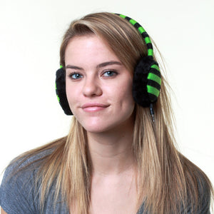 Earmuff Headphone Green Stripe