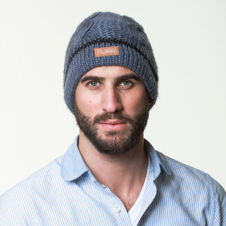 Cable Knit Beanie Charcoal