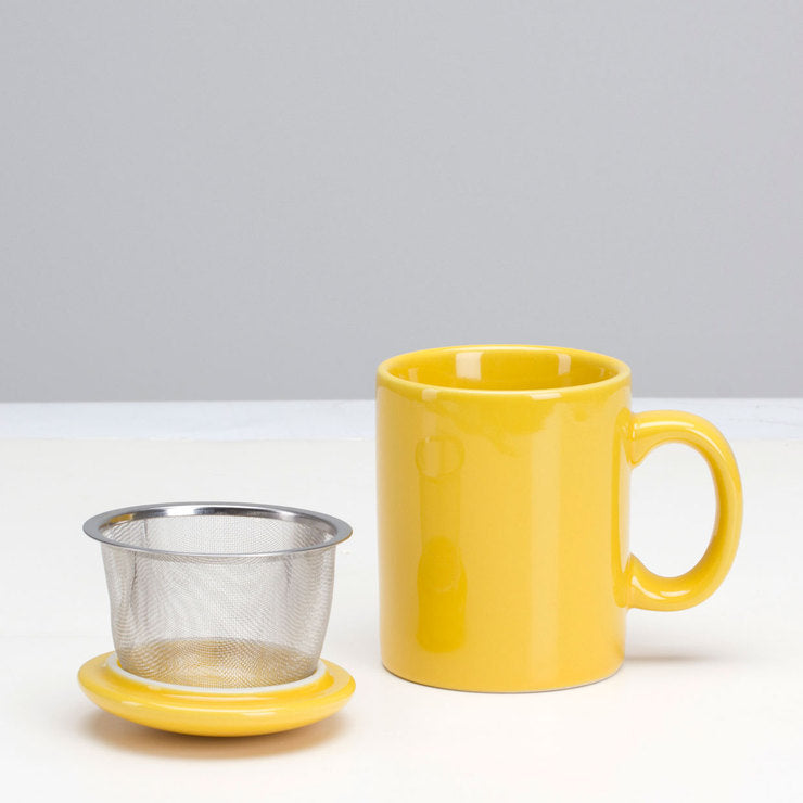 Infuser Mug & Lid Ylw Set Of 2