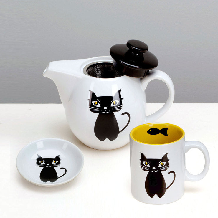 Cat 3-Piece Tea Set