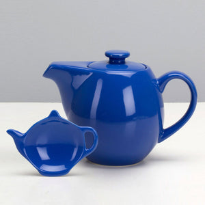 Infuser Teapot 24oz & Caddy Blue