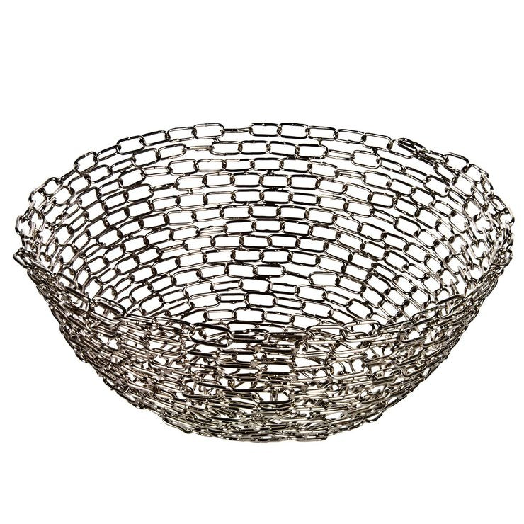 Handmade Recycled Chain Bowl