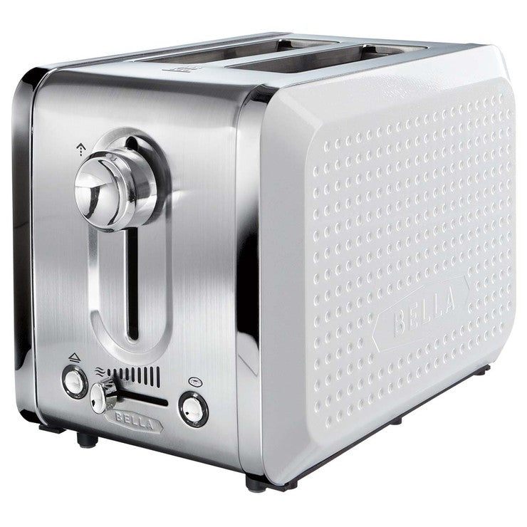 Dots 2 Slice Toaster White