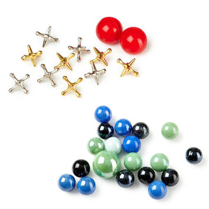 Jacks And Marbles Game Set