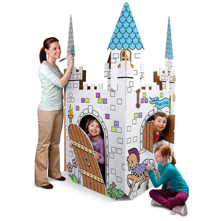 Color and Play Cardboard Castle