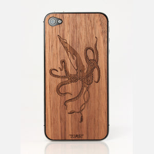iPhone 4/4S Squid Walnut