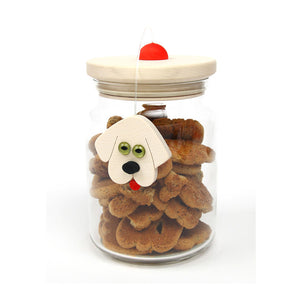 Dog Treats Glass Jar