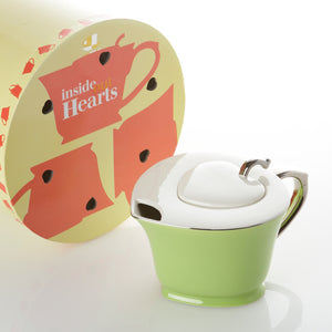 Heart Teapot 32oz Lime