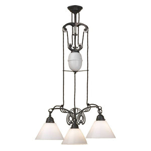Nouveau 3 Light Chandelier