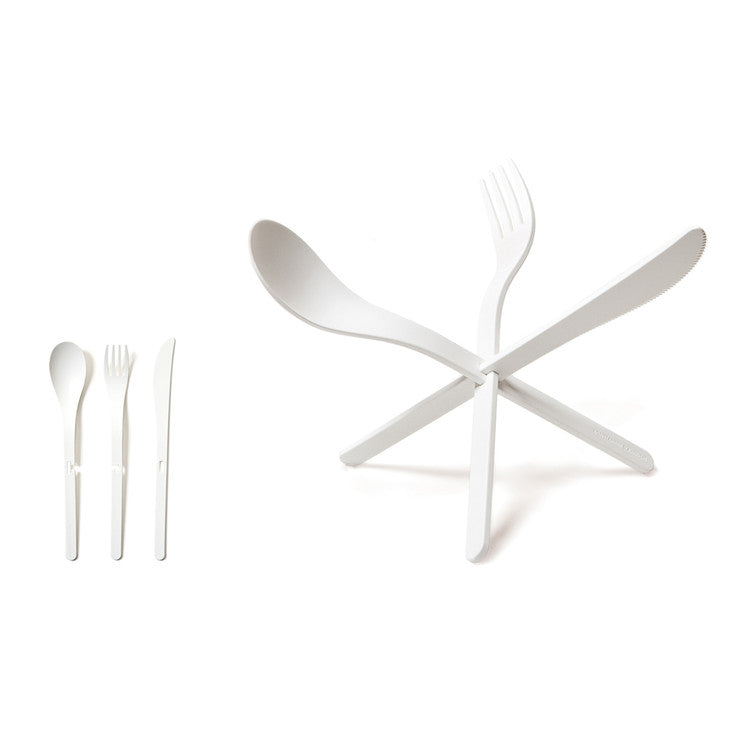 JOIN Cutlery White Set Of 4