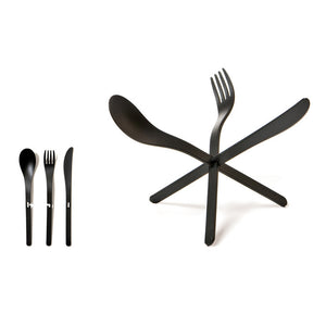 JOIN Cutlery Black Set Of 4