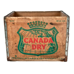 Canada Dry Wood Soda Crate